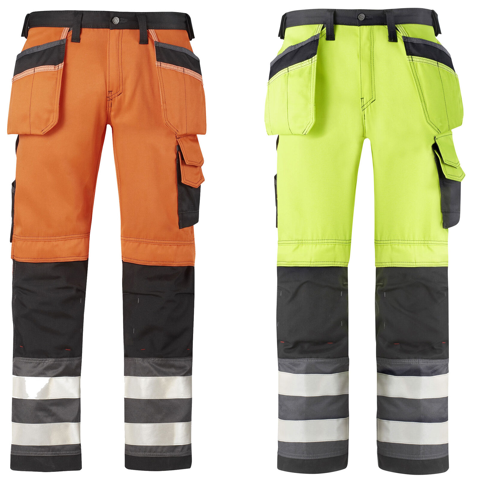 SNICKERS HI VIS Pantaloni. KNEEPAD & Fondina Tasche. classe 2. UK supplier-3233