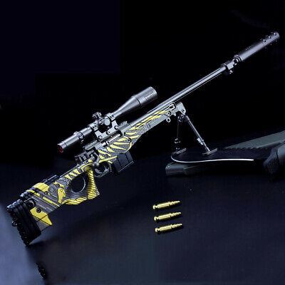PUBG AWM Assault Sniper Rifle Gun Weapon Replica Prop Alloy Discast Display 36cm