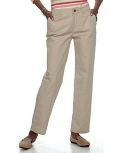 New-CROFT-amp-BARROW-Effortless-Stretch-RELAXED-Pull-On-Cotton-Elastic-Waist-Pants