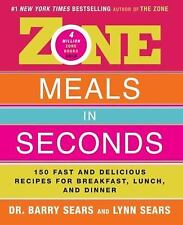 Zone Meals in Seconds: 150 Fast and Delicious Recipes for Breakfast, L-ExLibrary