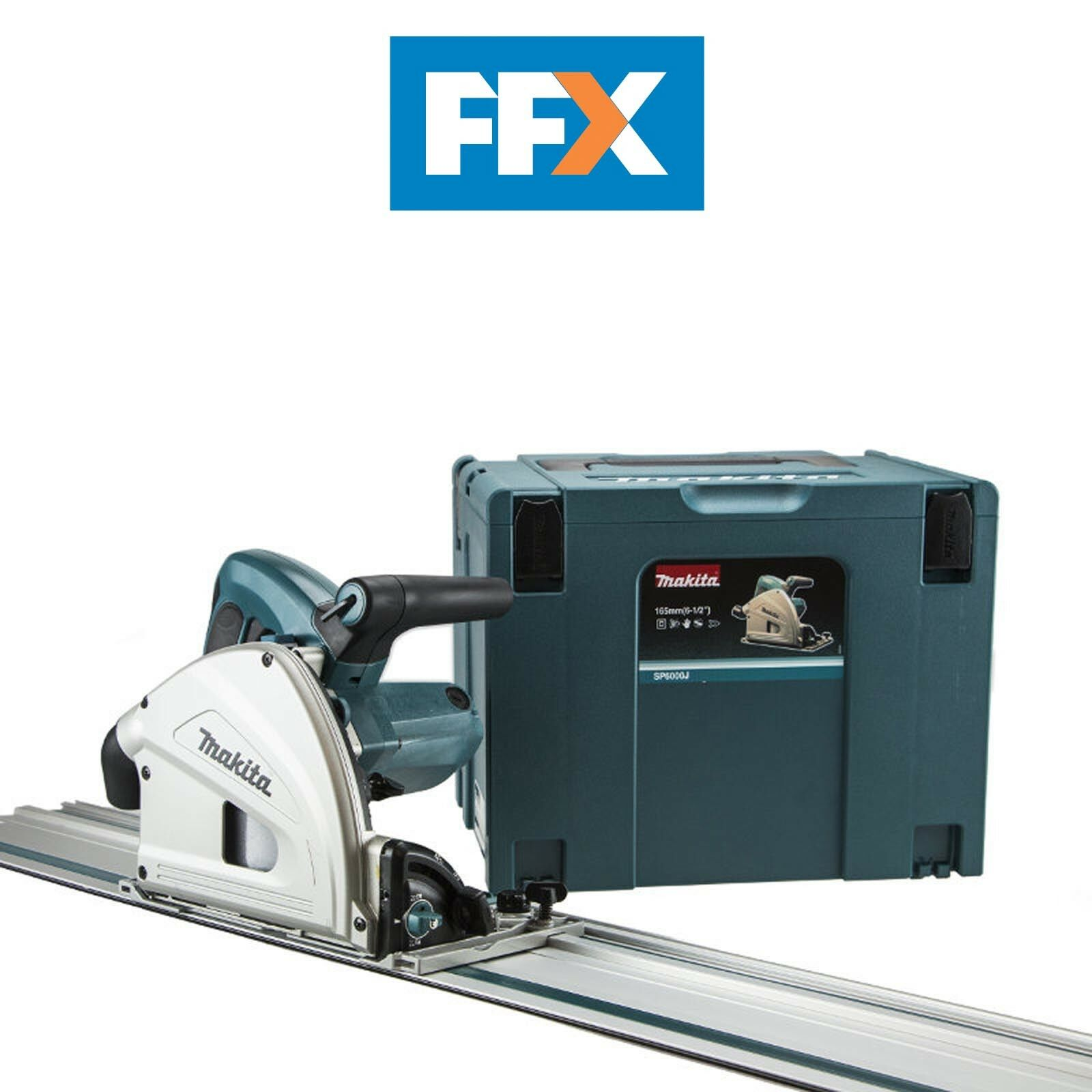 Makita SP6000J1 230v 165mm Plunge Saw with 1.4m Guide Rail