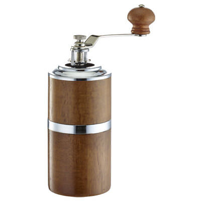 Brand New Cafe de Tiamo Slim Hand Coffee Grinder Skerton (HG6114) with Brush