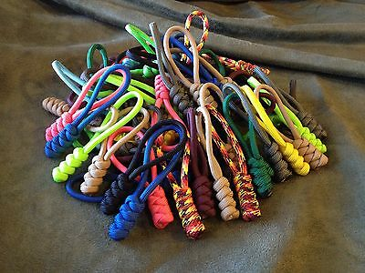 (4) Paracord Zipper Pulls, Snake Knot, Choose from 35 Colors