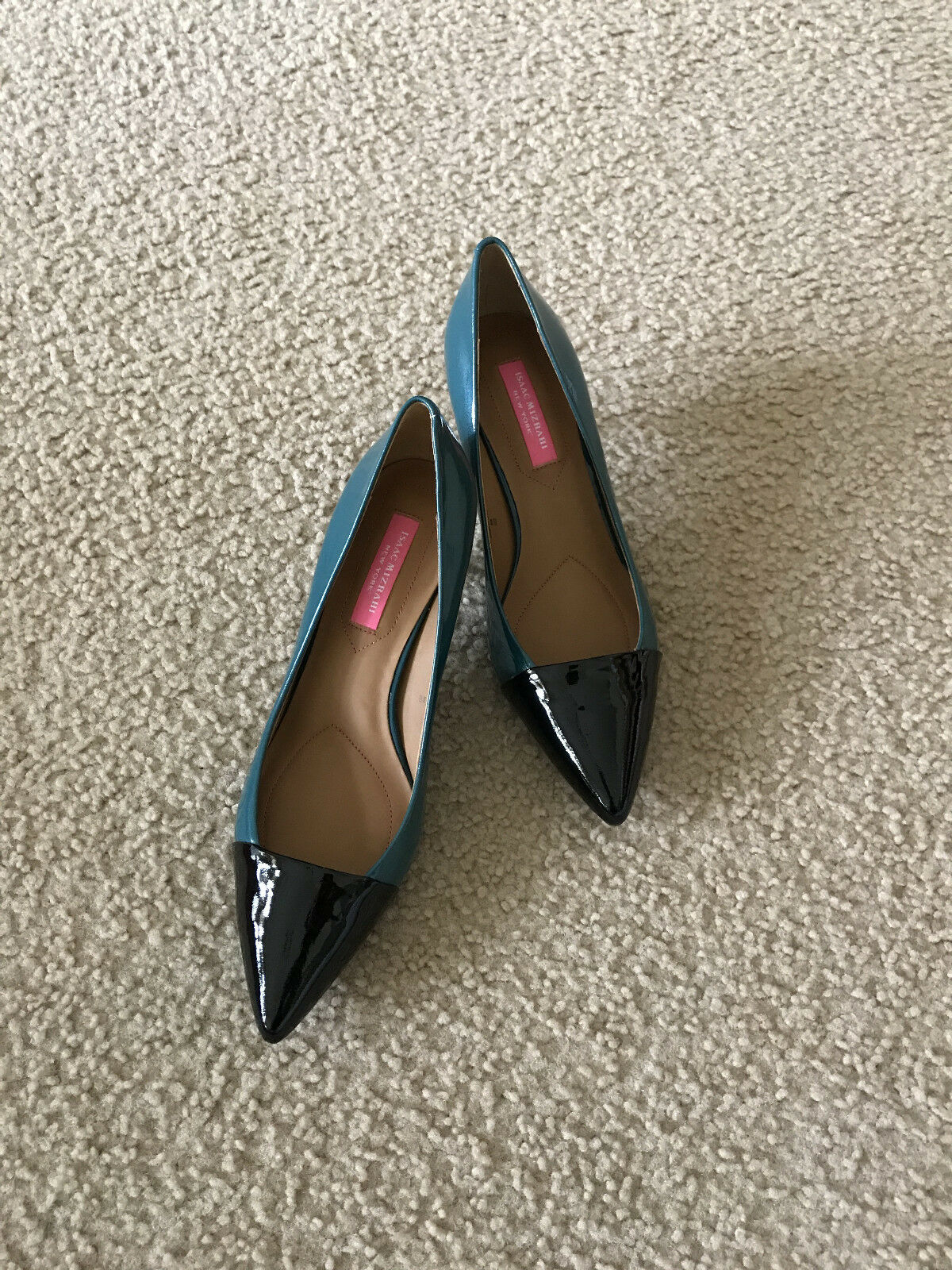 NIB Isaac Mizrahi New York Jabria Jabria Jabria Pump dark Grün patent leather 6 6.5 7 8 8.5 fbab8b