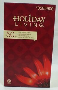 Holiday Living 50 Ct Red Chili Pepper Lights 0585900 New