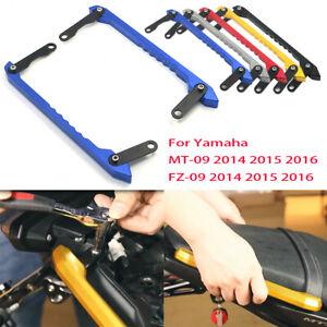 2X-Passenger-Grab-Bar-Rear-Seat-Rail-Kit-For-Yamaha-MT-09-FZ09-2013-2016-Blue