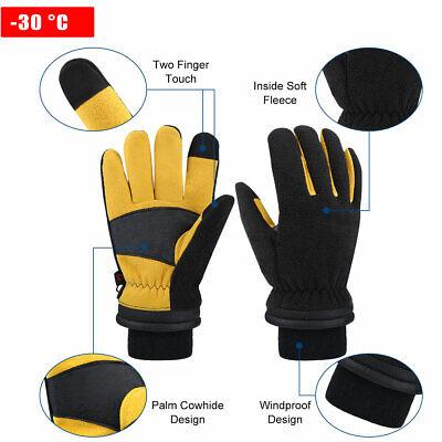 CCBETTER Winter Glove Thermal Fleece Gloves Warm Work Gloves for Men /& Women
