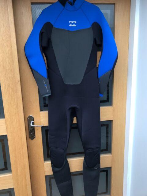 Billabong 3/2mm Mens Absolute Comp Wetsuit Back Zip Ocean Blue - X LARGE