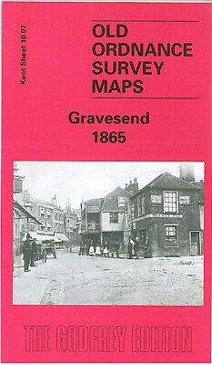 OLD ORDNANCE SURVEY MAP GRAVESEND 1865 WEST COURT WINDMILL HILL EAST MILTON