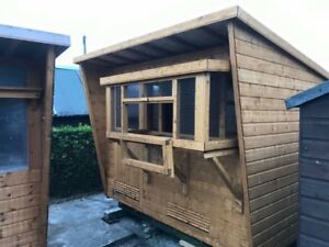 9ft x 6ft baby Pigeon Loft With netted box On front