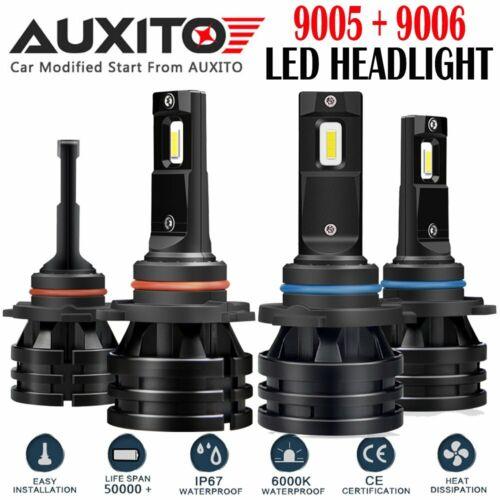 4X 9005 9006 6000K Total 40000LM 400W CSP LED Headlight Hi//Low Beam Bulb M2 EOA
