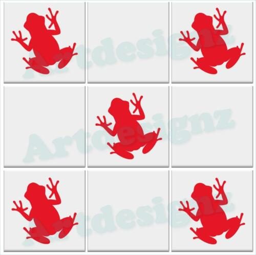 FROG Tile Stickers Kitchen Bathroom Vinyl Wall Art Car Decal Transfer AD54