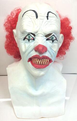 Luxus Rot Haare Clown Pennywise Maske Killer 80er Horror Halloween Kostüm
