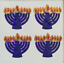 "Each Sticker 0.75/"" RP8200 400 Jewish Menorah Stickers in roll of 100 modules"