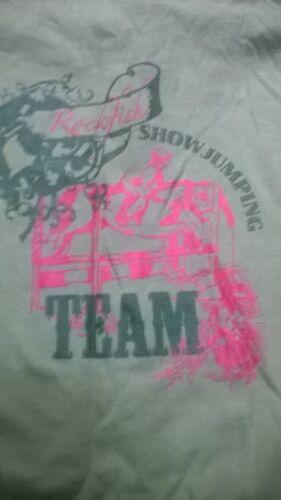 Girls long sleeve T shirt top horse riding Showjumping Team Equestrian Rockfish