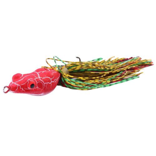 Bass Frog Bait Fishing Hooks Bait Tackle  Soft Lures 11cm 9.8g
