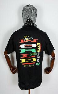 Huf-Worldwide-Skateboard-T-Shirt-Tee-Get-Up-Black-in-M