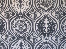 DAMASK Geometric fabric   Shower Curtain Black and White