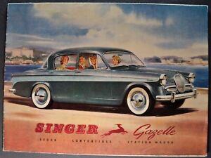1959-1960 Singer Gazelle Brochure Folder Convertible Wagon Excellent Original