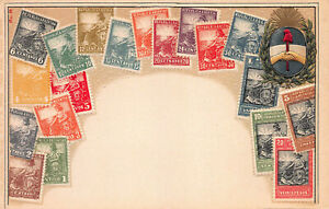 Argentina-Stamps-on-Early-Embossed-Postcard-Unused-Published-by-Ottmar-Zieher