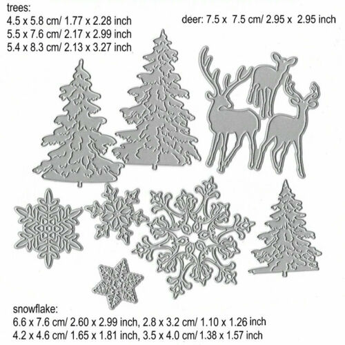 Christmas Snowman Cutting Dies Metal Stencil DIY Scrapbooking Album Paper Card