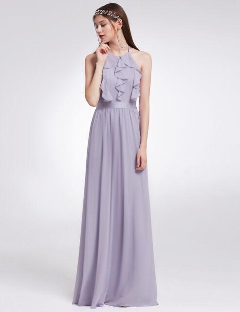 29b942b72892 Ever-Pretty UK Halter Ruffled Long Party Dresses Bridesmaid Wedding ...