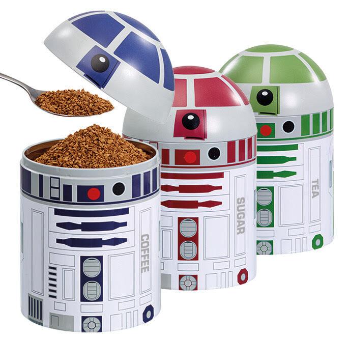 Box - star wars droide lagerung beschädigt wurden 3 tee, kaffee, zucker, r2 - d2