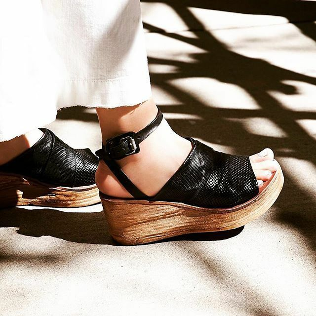 AS 98 Free People Niall nero Strappy Leather Wedge Wedge Wedge Heel Sandals 37 38 39 40 41 badb11