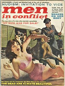 Men In Conflict Magazine: December 1961 - Nazis, Crime, Sex Spys, Pit of Horror