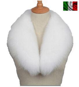 Light Volpe Pelliccia Bianco Fourrure Fox Silver De White Renard Collo Di zRx7OT