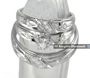 Image Is Loading Diamond 20 Carat 3 Ring 10K White Gold