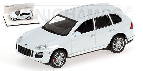 Wonderful  modelcar PORSCHE CAYENNE TURBO 2007 - white- 1 43 - ltd. Ed.