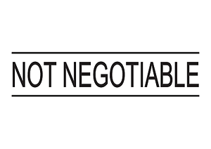 5 colours NOT NEGOTIABLE Rubber Stamp Self-Inking Office Stamps 4 sizes