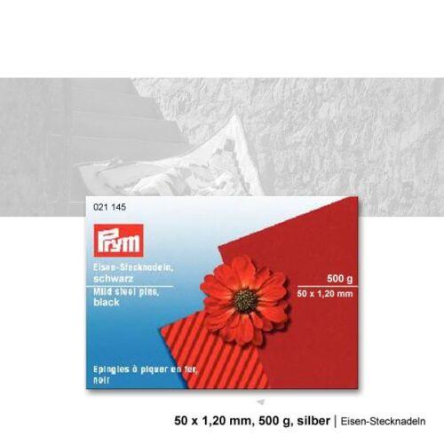 Eisen-Stecknadeln 50 x 1,20 mm 500 g schwarz