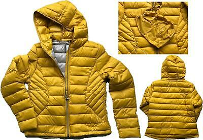 New Next Womens Navy Blue Packaway Down Puffer hooded Padded Jacket Size 6-24