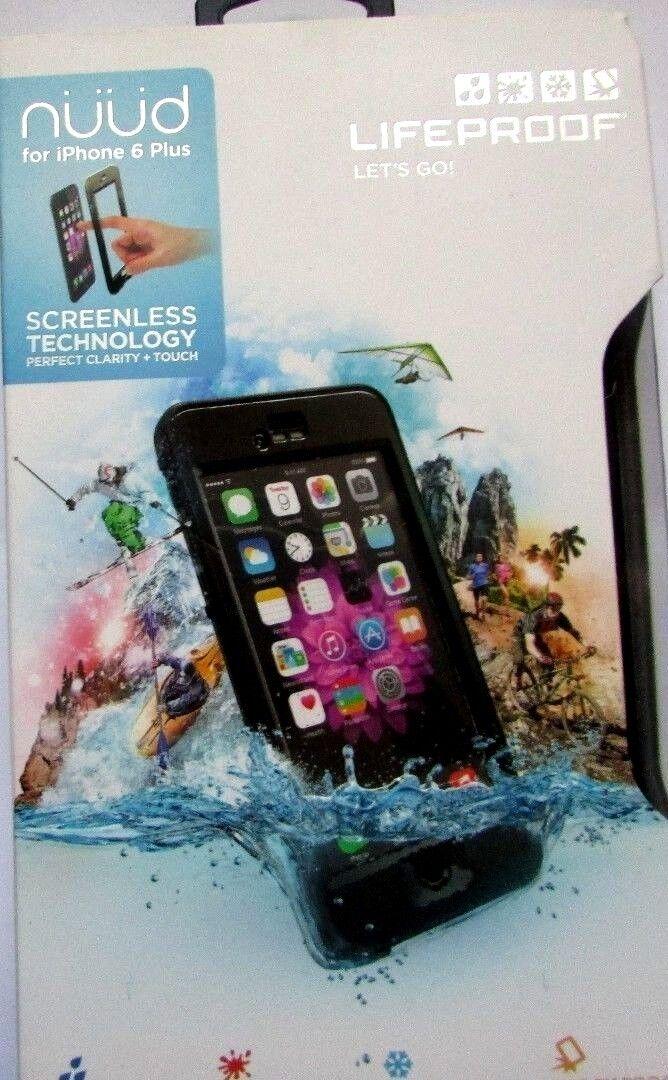 """Image 1 - LifeProof iPhone 6 Plus 5.5"""" Nuud Series Waterproof Case New Open Box Black"""