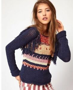 Folky Top 3 Jumper Scotch Fringed Knit Sz 298 8 Sweater Maison a47Anx