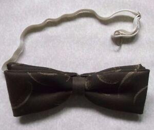 Actif Vintage Bow Tie Homme Dickie Nœud Papillon Rétro Réglable Marron-afficher Le Titre D'origine