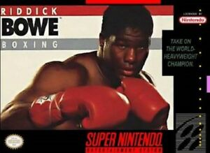 Riddick-Bowe-Boxing-SNES-Great-Condition-Fast-Shipping