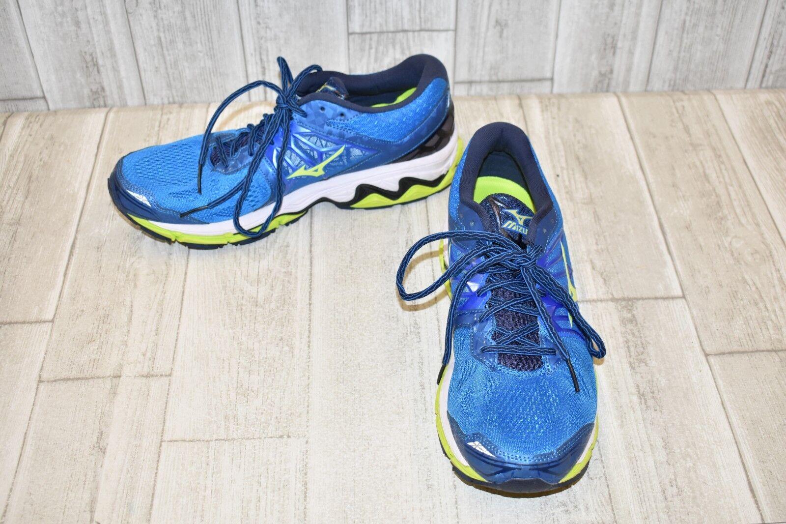 Mizuno Wave Horizon 2 Running shoes - Men's Size 12, bluee Lime