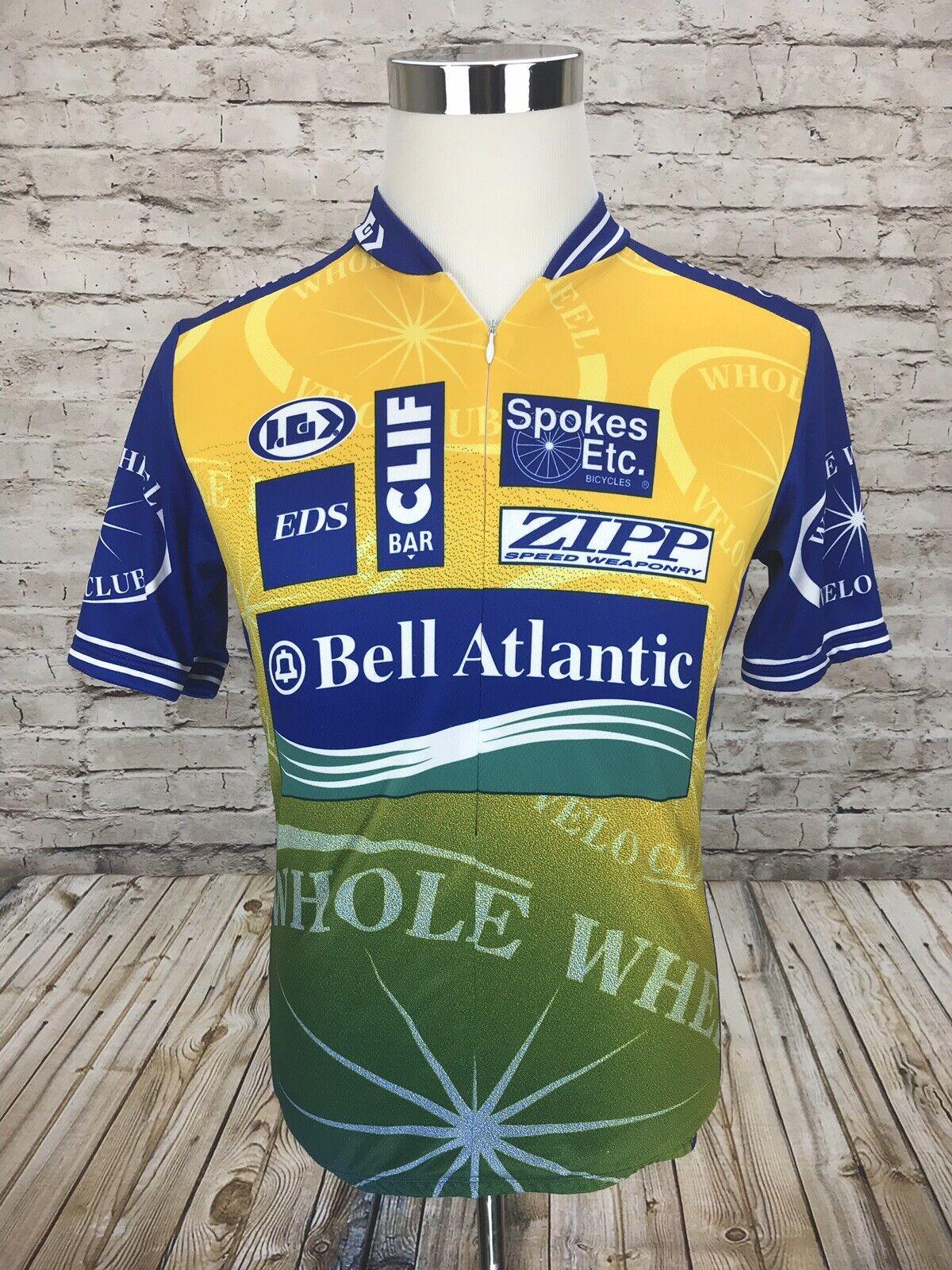 Louis Garneau Bell Atlantic Bicycles Men's Large S S Cycling Jersey 3 4 Zip RARE