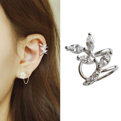 Ohrklemme Schmetterling echt Sterling Silber 925 Zirkonia rosegold Ohrringe