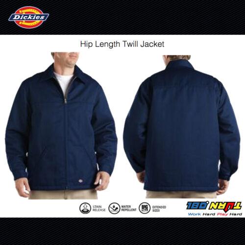 Quilt Lined Coat Dickies 78266AL Mens Hip Length Twill Winter Jacket 2 colors