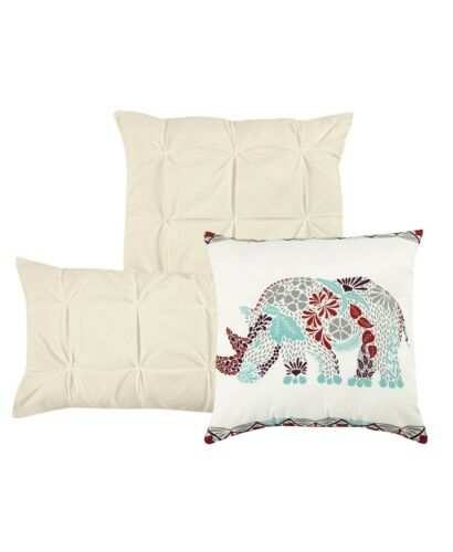 Chic Home Yael 10-PC Beige Pleated Pintuck King Comforter Set T410324