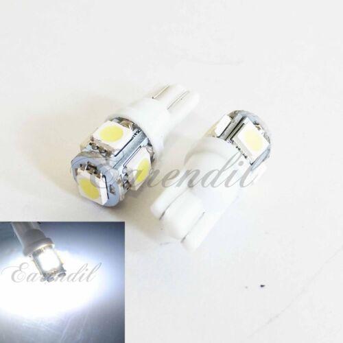 T10 168 192 175 Super White 5 SMD High Power LED 2x Bulb #Nt10 Front Side Marker