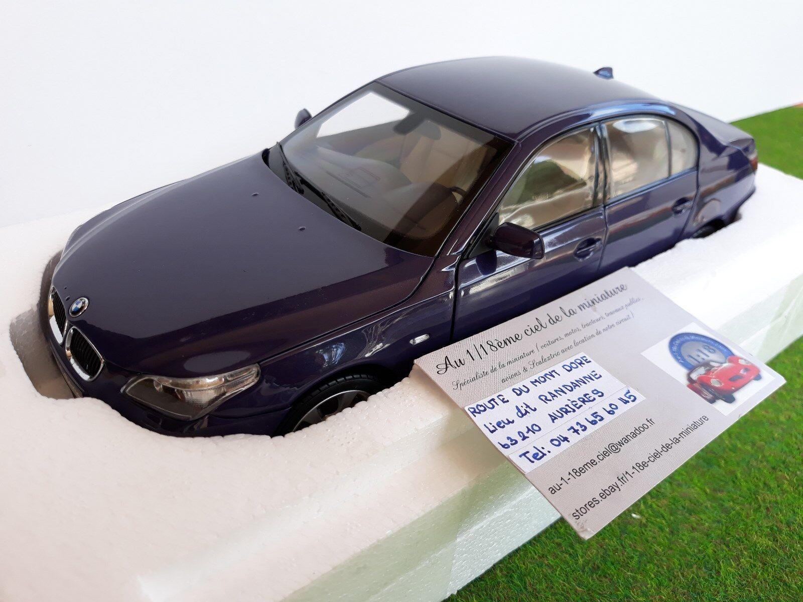 BMW 545i SEDAN púrpura púrpura 1 18 KYOSHO 08591SP voiture miniature collection