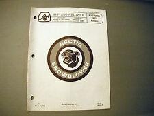 1972 Vintage Arctic Cat 8 HP Snowblower Parts Manual