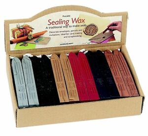 MANUSCRIPT-QUALITY-SEALING-WAX-STICKS-WITH-WICK-FOR-POSTABLE-LETTER-SEAL-CANDLE