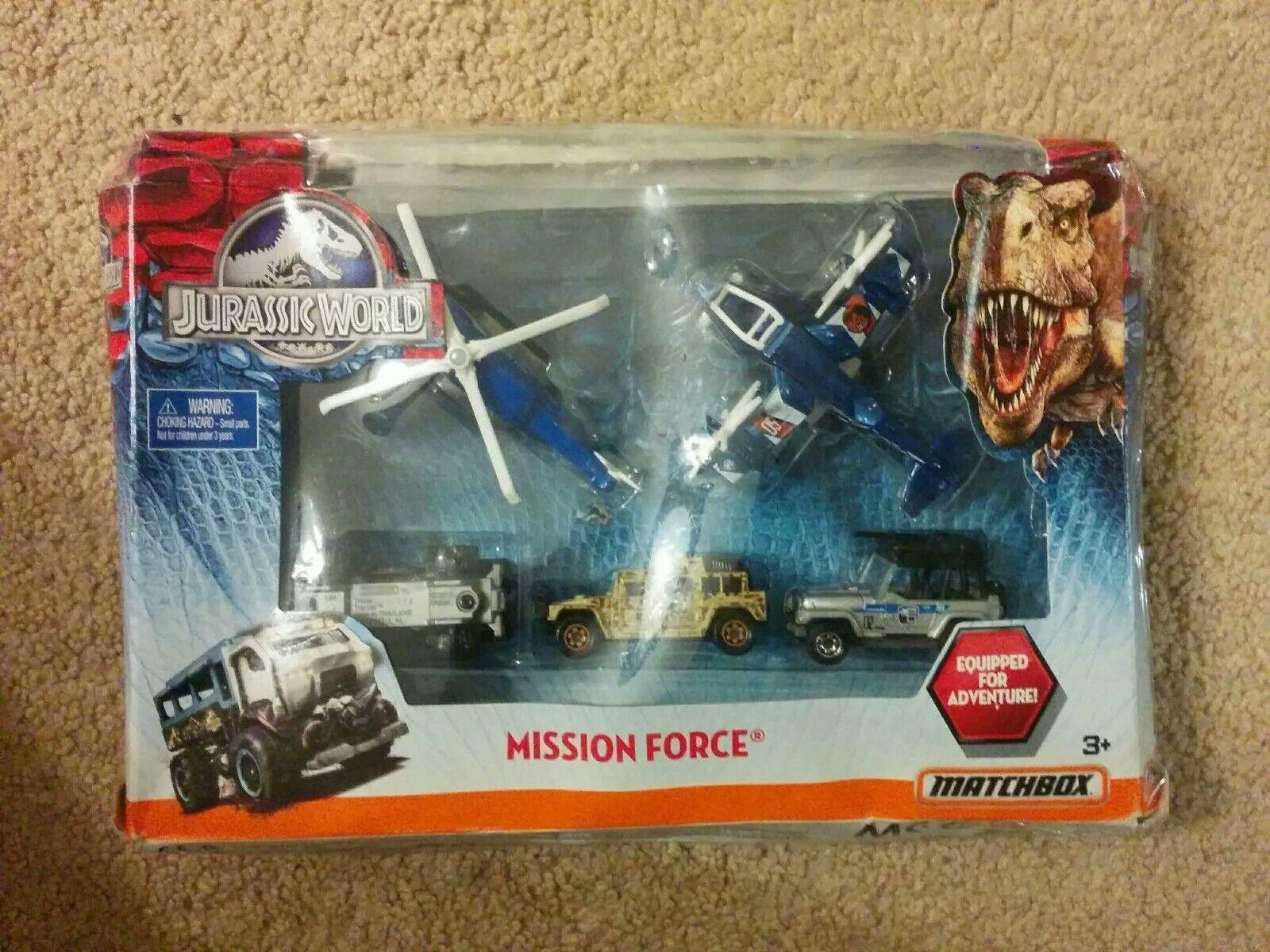 New in box matchbox - - - mission force jurassic welt 65b9db