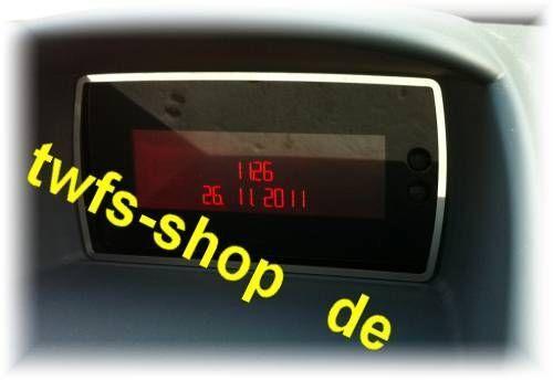 D Ford Fiesta JA8  2008- Chrom Rahmen für Display  - Edelstahl poliert
